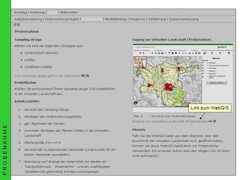 02.07.2003AGIT Rudner, Schröder, Biedermann & MüllerGIMOLUS Link zum WebGIS P R O B E N A H M E