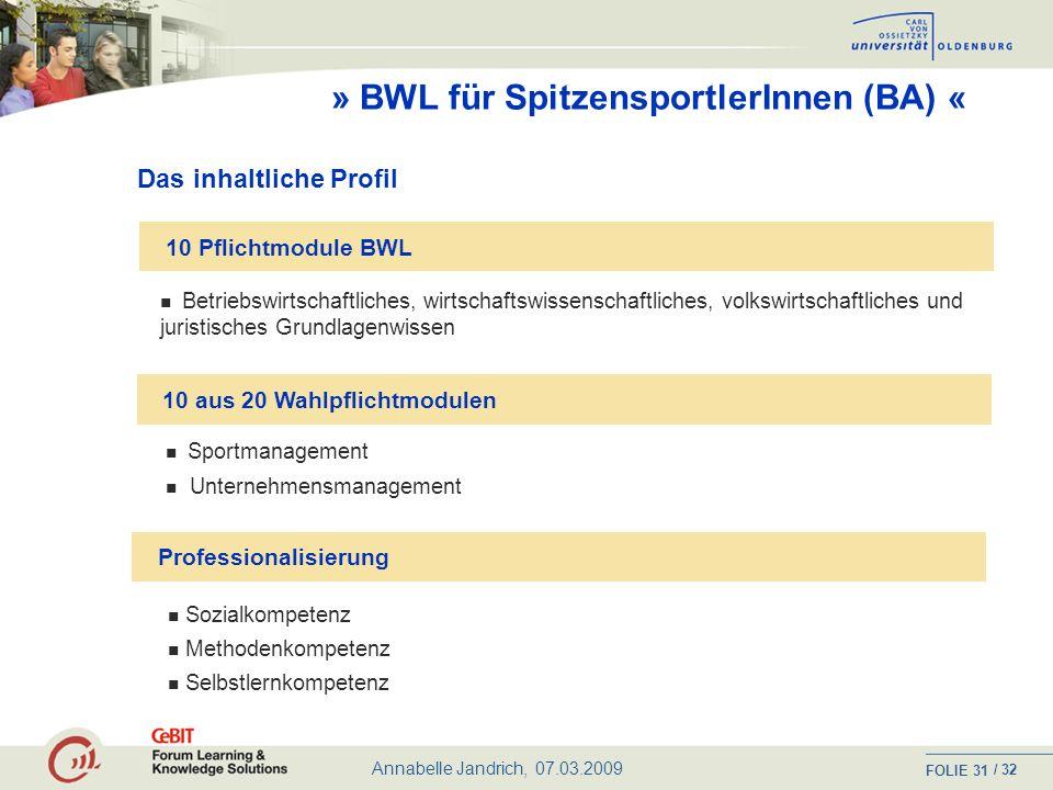 Annabelle Jandrich, 07.03.2009 FOLIE / 32 30 Wer ist angesprochen.