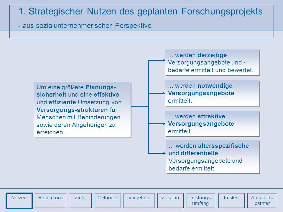 1. Strategischer Nutzen des geplanten Forschungsprojekts - aus sozialunternehmerischer Perspektive Um eine größere Planungs- sicherheit und eine effek