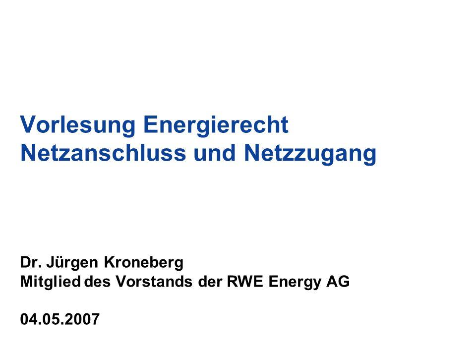 22 Begriffsbestimmungen und Abgrenzung (3) Netzzugang –Unter Netzzugang ist die Nutzung des öffentlichen Netzes für die Beförderung / den Transport von Energie (Strom und Gas) –Der deutsche Gesetzgeber hat sich für den Begriff des Netzzugangs entschieden.