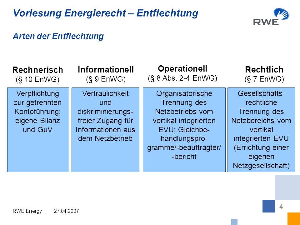 65 Back-up: Entwicklung von der Deregulierung zur Regulierung des Netzbereichs