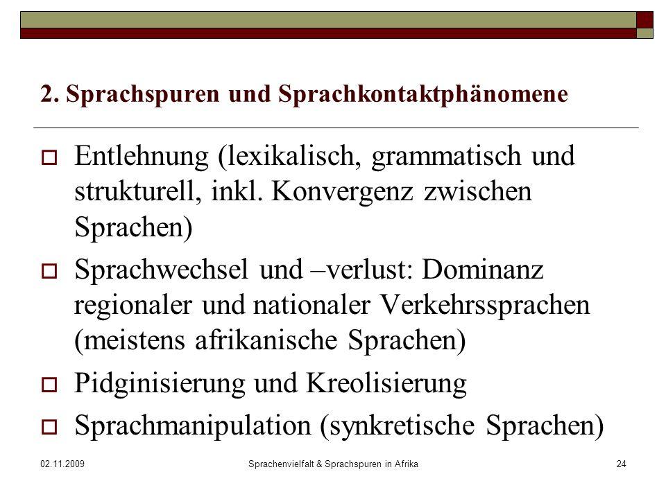 02.11.2009Sprachenvielfalt & Sprachspuren in Afrika24 2.