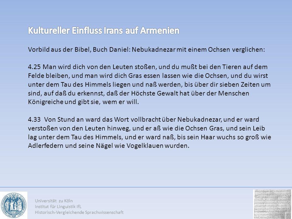 Universität zu Köln Institut für Linguistik IfL Historisch-Vergleichende Sprachwissenschaft