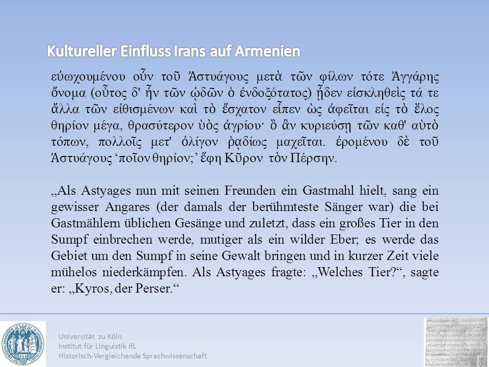 Universität zu Köln Institut für Linguistik IfL Historisch-Vergleichende Sprachwissenschaft ε ωχουμένου ο ν το στυάγους μετ τ ν φίλων τότε γγάρης νομα