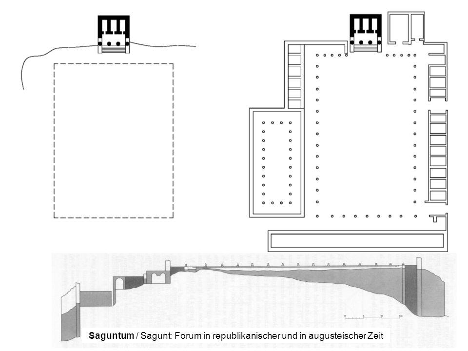 Saguntum / Sagunt: Forum in republikanischer und in augusteischer Zeit