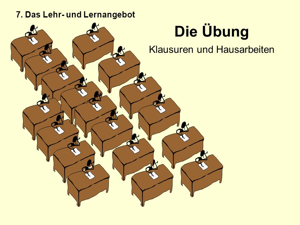 Die Übung Klausuren und Hausarbeiten 7. Das Lehr- und Lernangebot