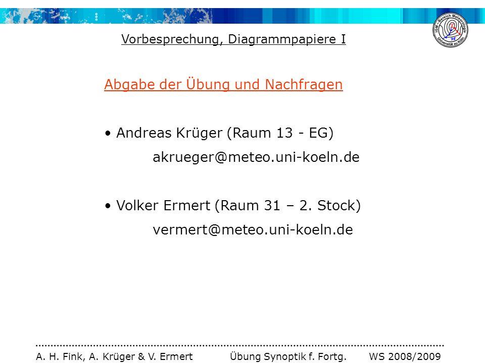 A.H. Fink, A. Krüger & V. Ermert Übung Synoptik f.