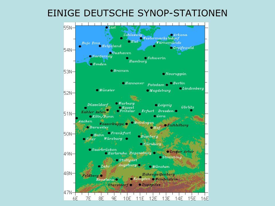 EINIGE DEUTSCHE SYNOP-STATIONEN