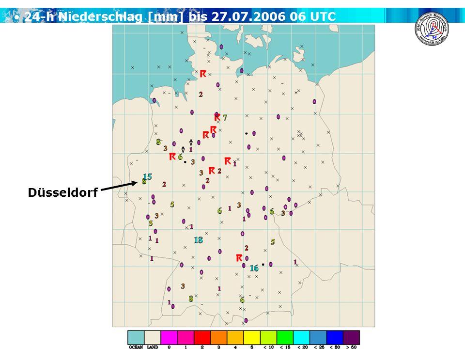 A. H. Fink, A. Krüger & V. Ermert Übung Synoptik für Fortgeschrittene WS 2008/2009 24-h Niederschlag [mm] bis 27.07.2006 06 UTC Düsseldorf