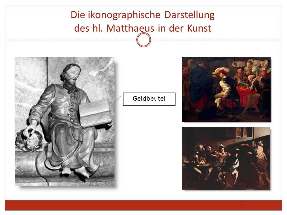 63 Die ikonographische Darstellung des hl. Matthaeus in der Kunst Geldbeutel