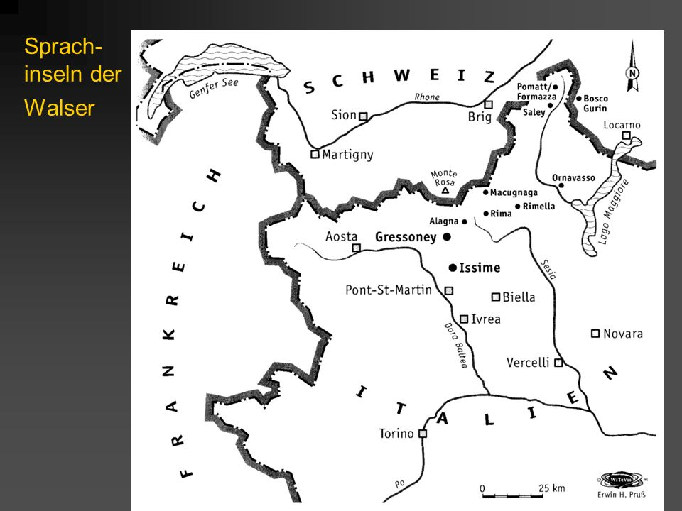 Sprach- inseln der Walser