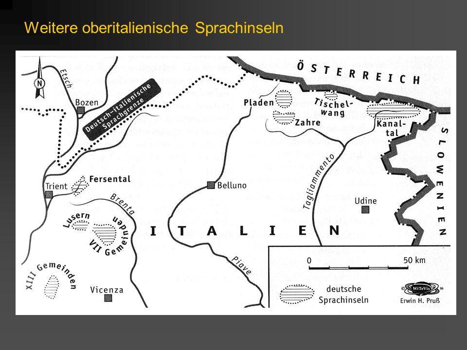 Faktor: Überdachungssituation In den meisten Gebieten ist Deutsch nicht Standardsprache, sondern es wird nur eine deutsche Mundart gesprochen Die Umgebungssprache übernimmt die Funktionen der Standardsprache Folgen: weniger Verwendungskontexte viel stärkere Entlehnungen aus der Umgebungs- sprache Korrektur von Sprachkontakterscheinungen fehlt