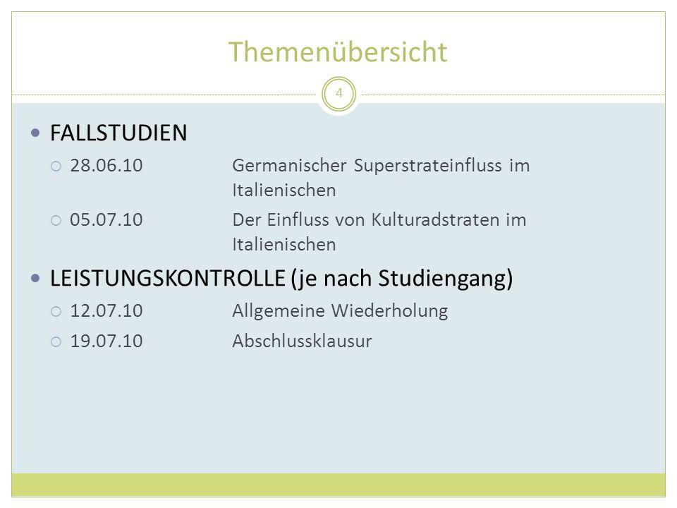Semantischer Wandel Semantische Veränderungen (it.