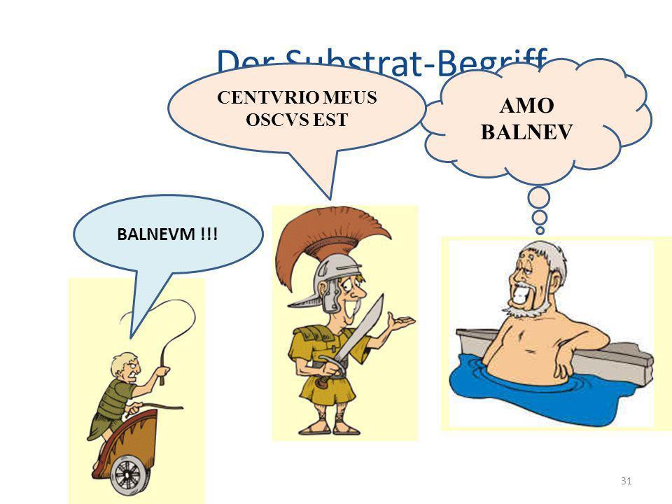 Der Substrat-Begriff 31 AMO BALNEV BALNEVM !!! CENTVRIO MEUS OSCVS EST