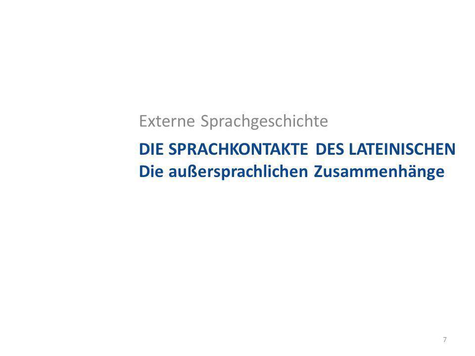 Der Substrat-Begriff Substrate des Lateinischen – Das Etruskische 3.
