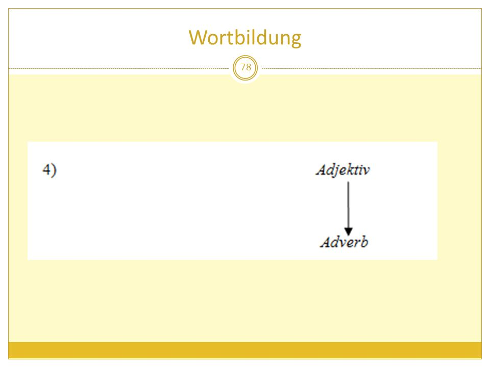 Wortbildung 78