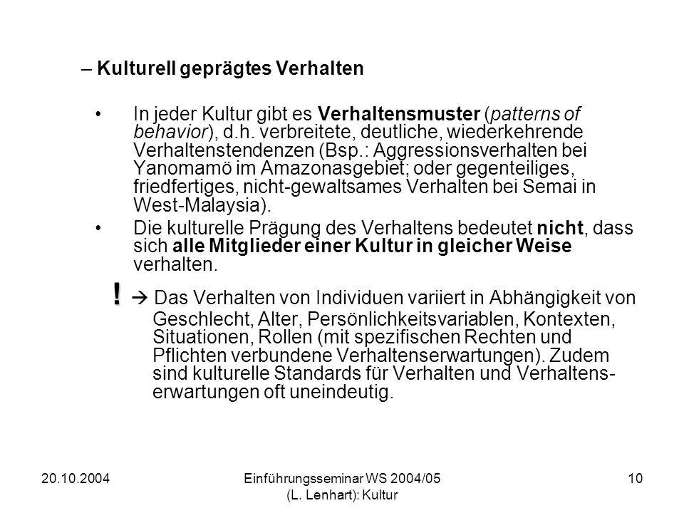 20.10.2004Einführungsseminar WS 2004/05 (L.