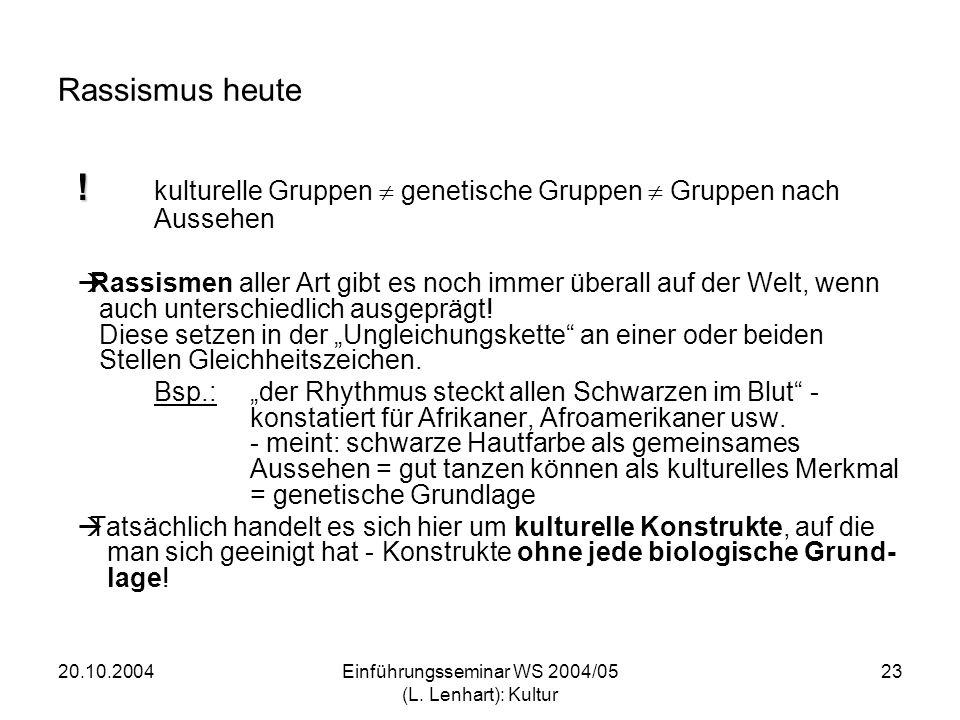 20.10.2004Einführungsseminar WS 2004/05 (L.Lenhart): Kultur 24 .