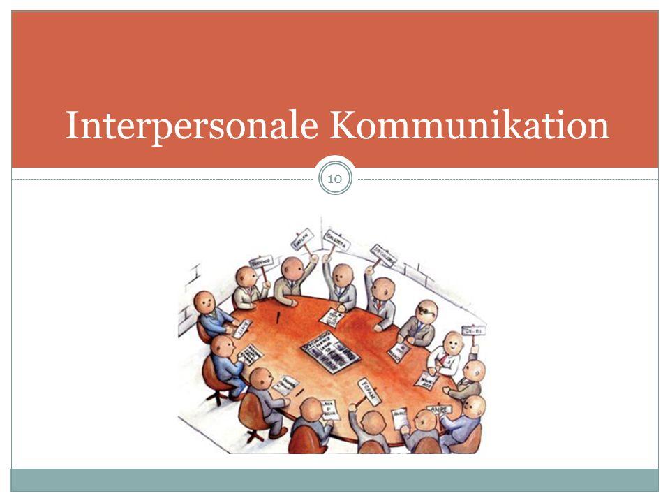 Interpersonale Kommunikation 10