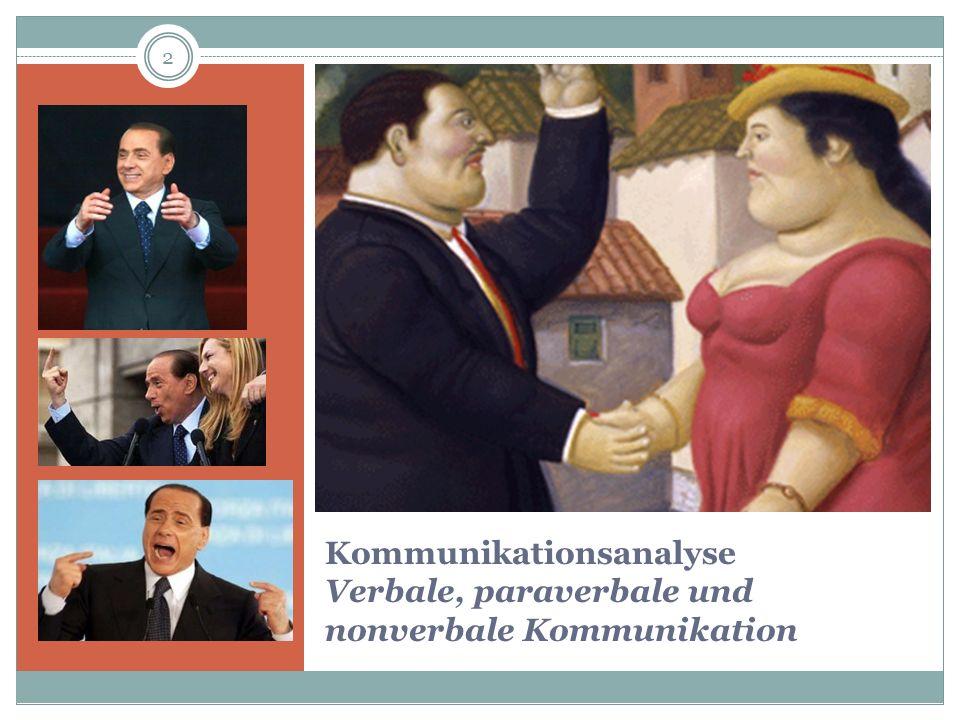 Kommunikationsanalyse Verbale, paraverbale und nonverbale Kommunikation 2