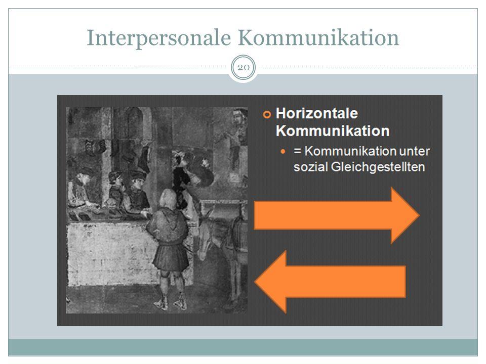 Interpersonale Kommunikation 20
