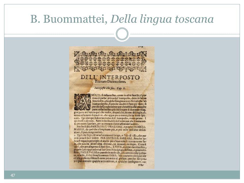 B. Buommattei, Della lingua toscana 47