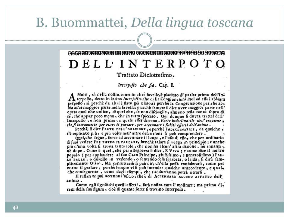 B. Buommattei, Della lingua toscana 48