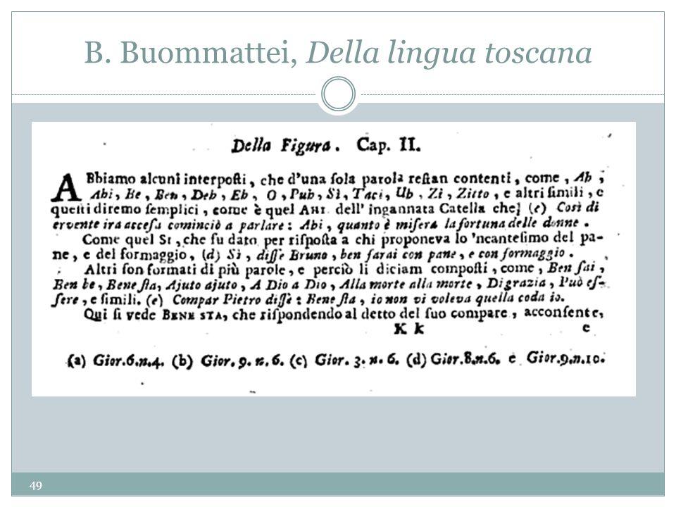 B. Buommattei, Della lingua toscana 49