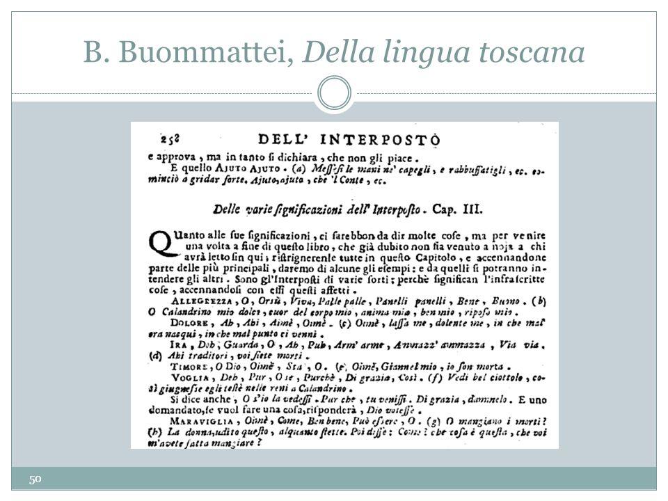 B. Buommattei, Della lingua toscana 50