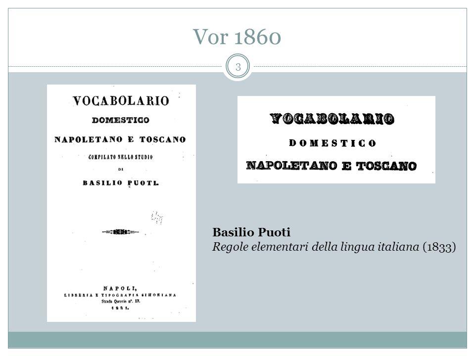 Vor 1860 3 Basilio Puoti Regole elementari della lingua italiana (1833)