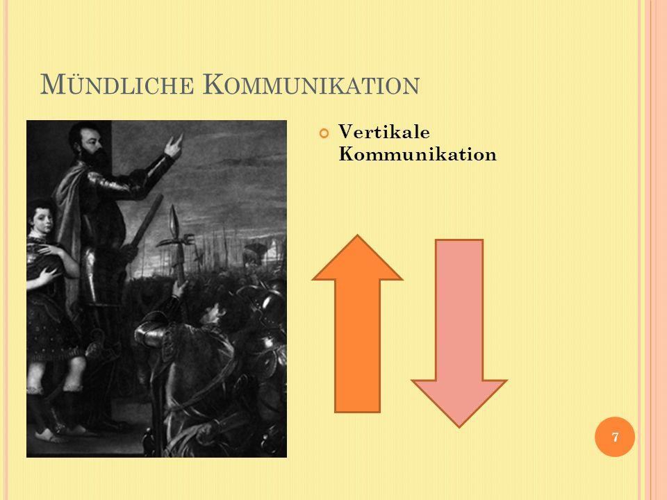 M ÜNDLICHE K OMMUNIKATION 7 Vertikale Kommunikation