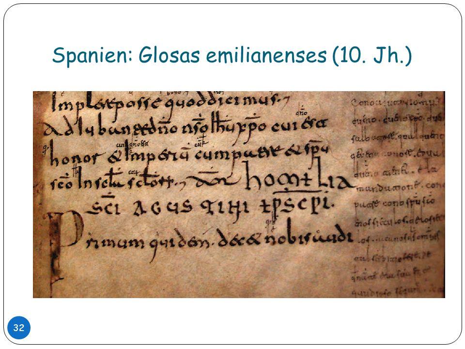 Spanien: Glosas emilianenses (10. Jh.) 32