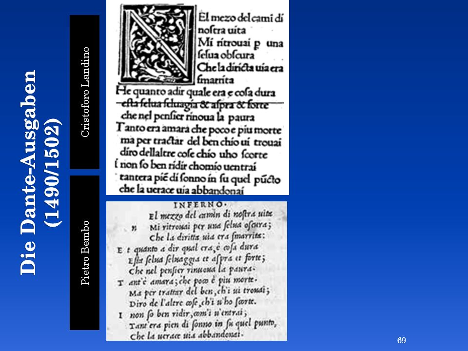 Cristoforo Landino Pietro Bembo 69
