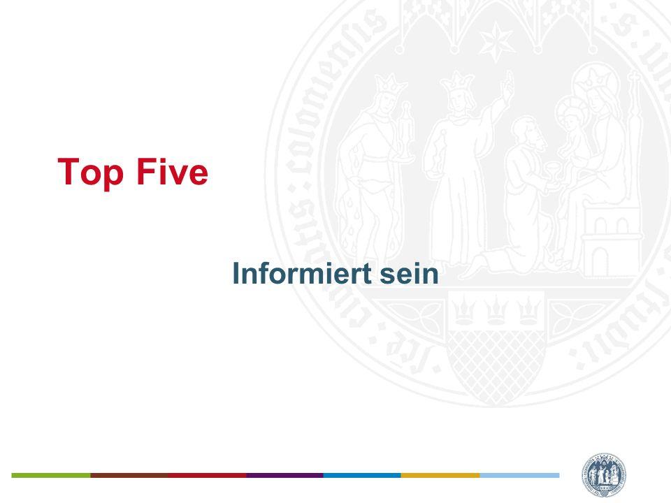 Top Five Informiert sein