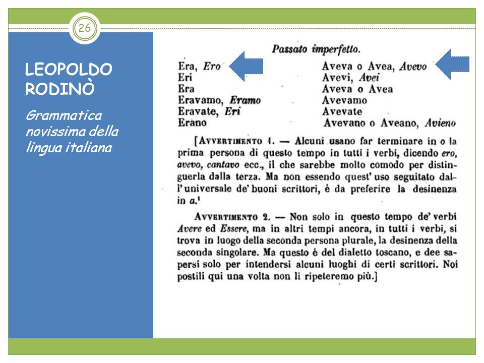 LEOPOLDO RODINÒ Grammatica novissima della lingua italiana 26