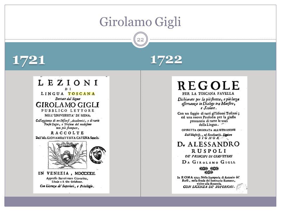 1721 1722 Girolamo Gigli 22