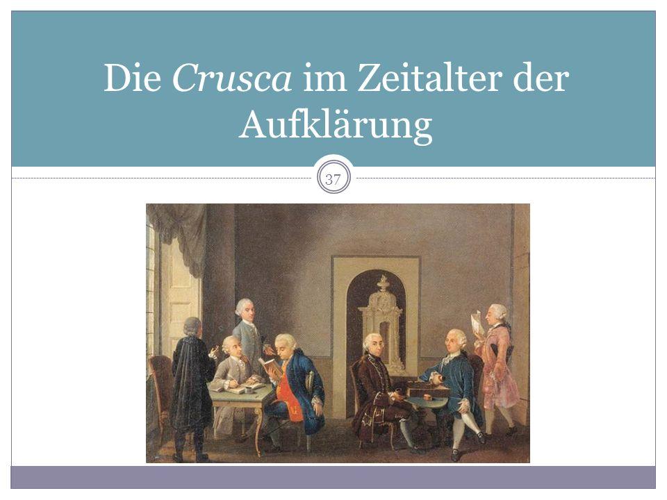Die Crusca im Zeitalter der Aufklärung 37