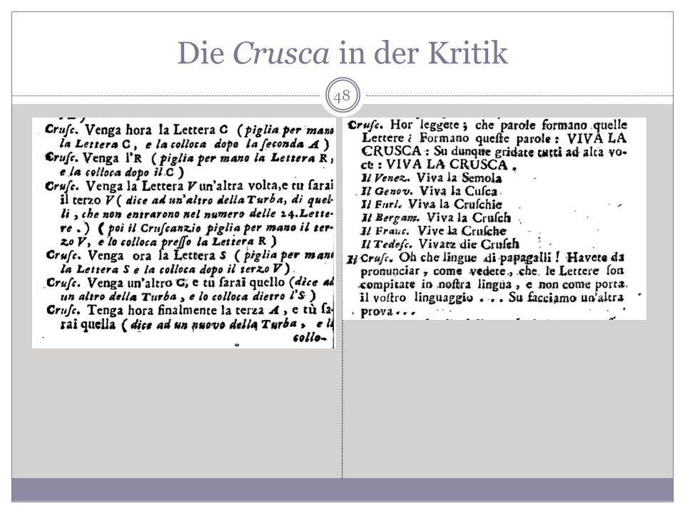 Die Crusca in der Kritik 48