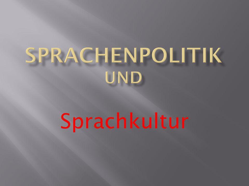 Sprachkultur