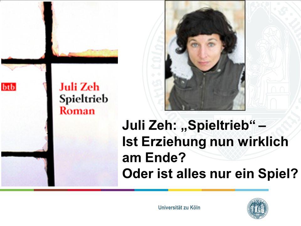 Kalte Sophie = Erzählerin Alev (18J.) Smutek (Lehrer) Ada (15J.) Ausgangssituation: Juli Zeh: Spieltrieb – Ist Erziehung nun wirklich am Ende.