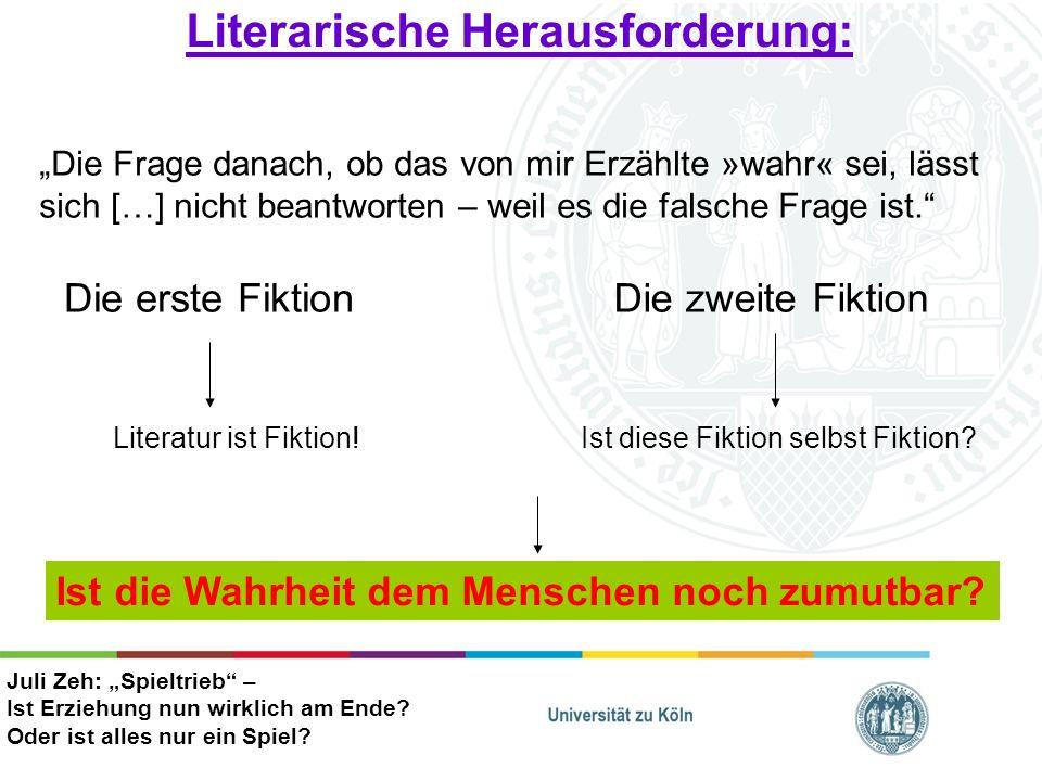 Philosophisch-Päd.Herausforderung: Ada (15J.) Alev (18J.) Ende der Erziehung .