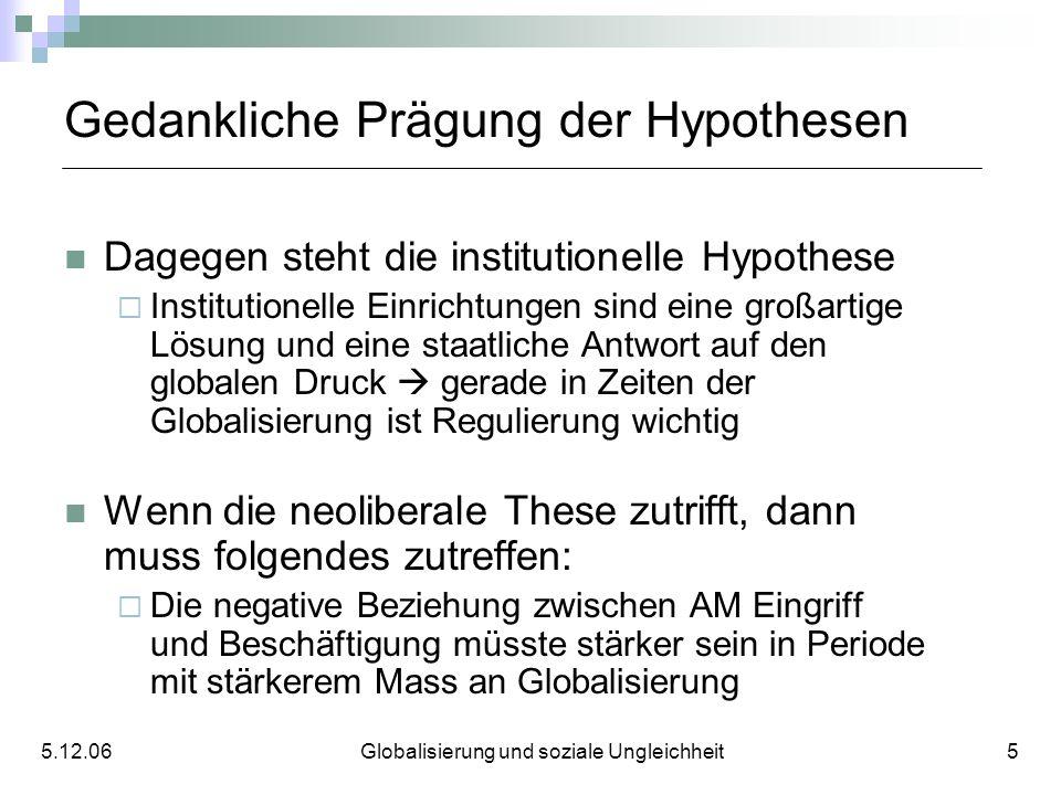 Gedankliche Prägung der Hypothesen Dagegen steht die institutionelle Hypothese Institutionelle Einrichtungen sind eine großartige Lösung und eine staa