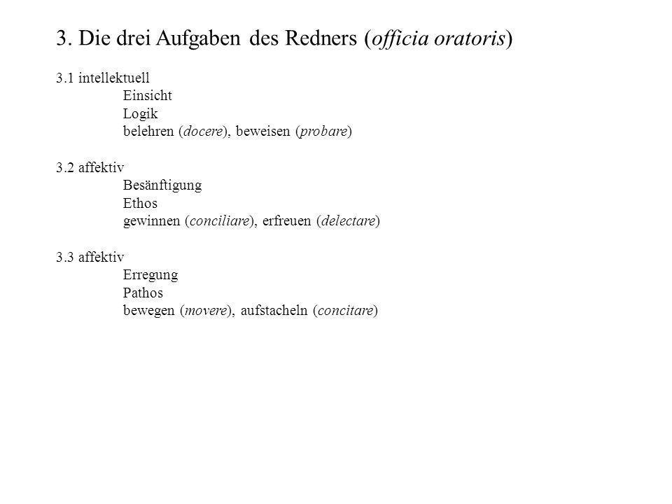 Wortfügung (compositio) cursus planus ´xx/x´xx (vincla perfregit) cursus velox ´xxx/xx´xx (vinculum fregeramus) cursus tardus ´xx/x´xxx (vincla perfregerat) Stilgattungen (genera dicendi) Hoher Stil Mittlerer Stil Niedriger Stil