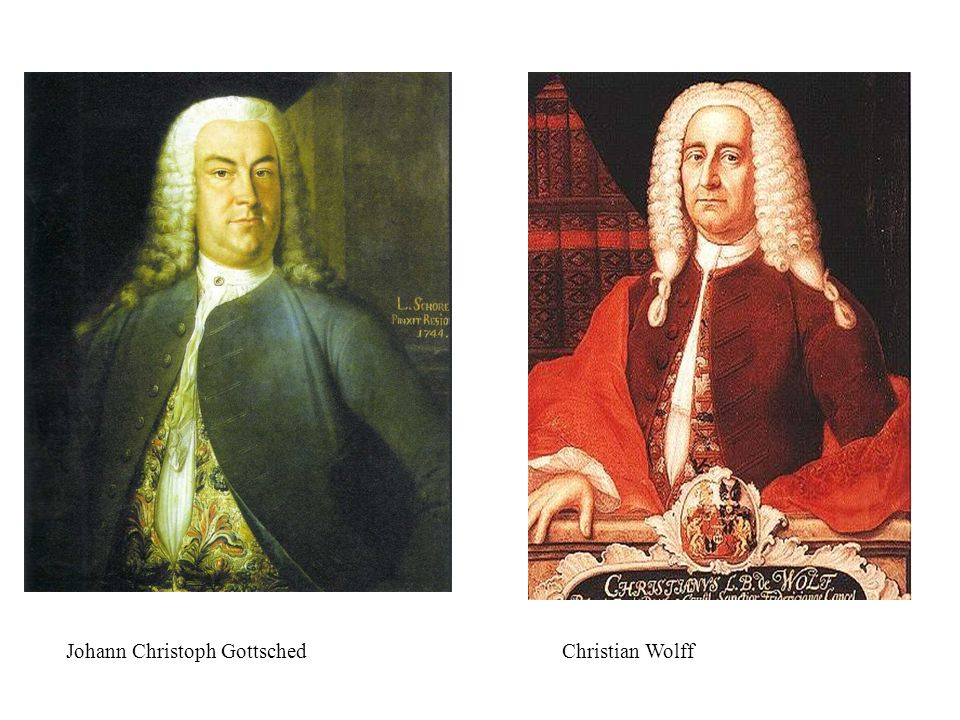 Johann Christoph GottschedChristian Wolff