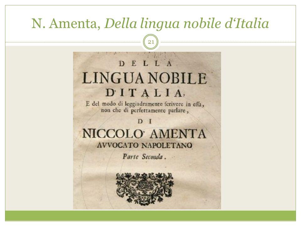 N. Amenta, Della lingua nobile dItalia 21