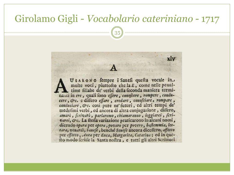 Girolamo Gigli - Vocabolario cateriniano - 1717 35