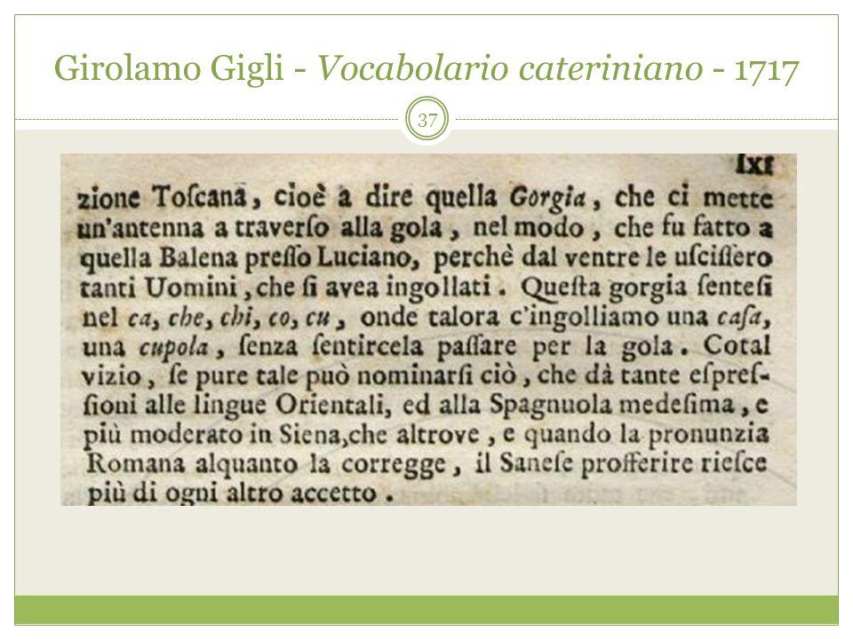 Girolamo Gigli - Vocabolario cateriniano - 1717 37