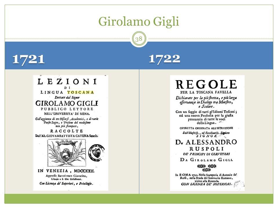 1721 1722 Girolamo Gigli 38
