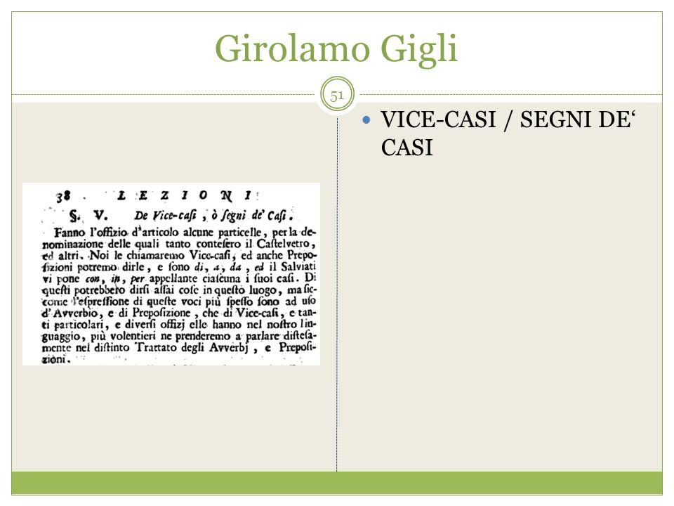 Girolamo Gigli VICE-CASI / SEGNI DE CASI 51