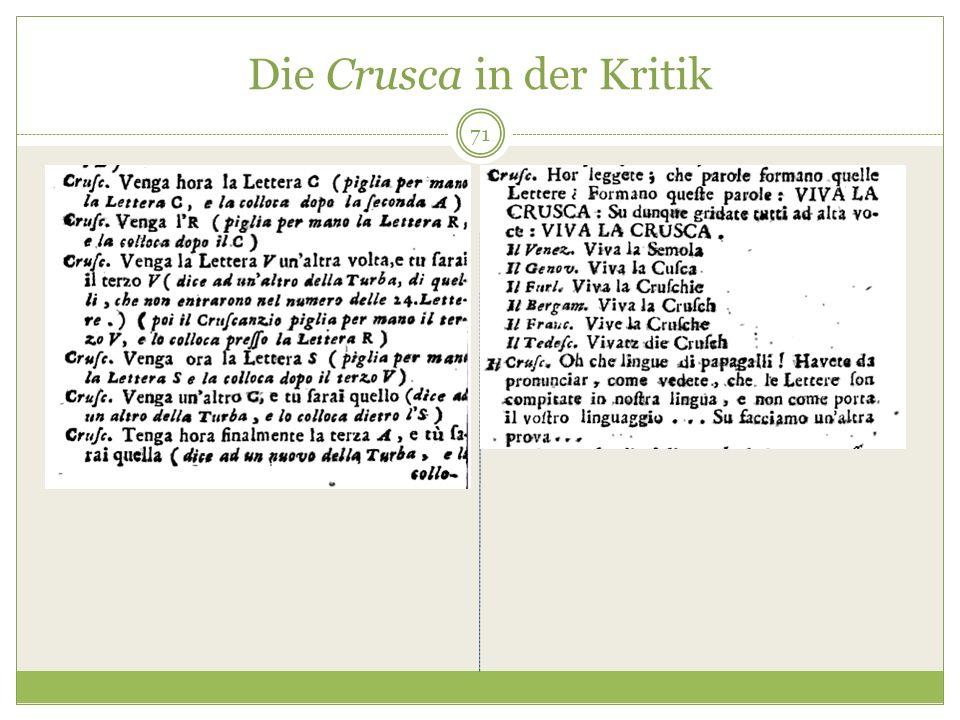 Die Crusca in der Kritik 71